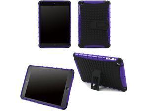 JAVOedge Purple Active Armor Protective Case with Built In Kickstand for the Apple iPad Mini, iPad Mini 2 with Retina