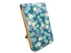 """JAVOedge Cherry Blossom Flip Case with Stand for Amazon Kindle Fire 7"""" (Ocean Blue)"""