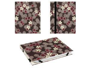JAVOedge Brown Cherry Blossom Lightweight Book Case with Strap Closure for Barnes & Noble Nook Glowlight 2nd Generation