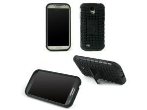 JAVOedge Black Active Armor Case with Built In Kickstand and Cut Outs for the Samsung Galaxy S4