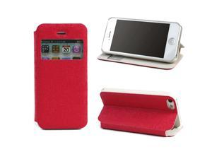 JAVOedge Slim Cover with Window for the Apple iPhone 5, iPhone 5s (Red)