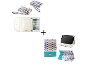 Bundle Set - Polka Dot Wallet for the Apple iPhone 5S and Axis Case for the iPad Mini, with Retina