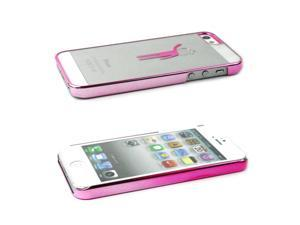 JAVOedge Pink Figure Print Protective Back Cover for the Apple iPhone 5S / 5