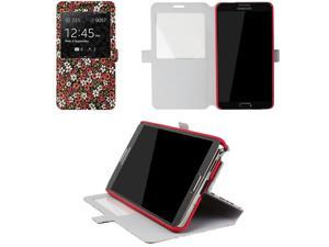 JAVOedge Tiny Flower Book Case for the Samsung Galaxy Note 3 (Red)