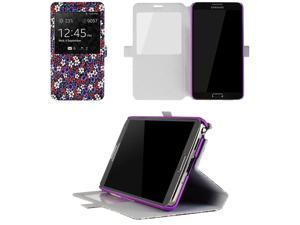 JAVOedge Tiny Flower Book Case for the Samsung Galaxy Note 3 (Purple)