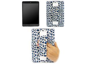 JAVOedge Leopard Print Back Cover w/ Hand Strap (Blue)
