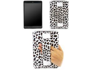 JAVOedge Brown Leopard Print Protective Back Cover w/ Hand Strap for the Apple iPad Mini 2 / 3