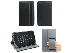 JAVOedge Black and Gray Nylon Print Folio Style Case with Angled Rest and Hand Hold for Google Nexus 7