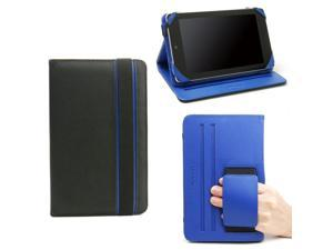 JAVOedge Black and Blue Nylon Print Folio Style Case with Angled Rest and Hand Hold for Google Nexus 7
