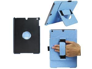 JAVOedge 360 Rotating Back Cover with Handstrap and Kickstand for the Apple iPad Air (Blue)