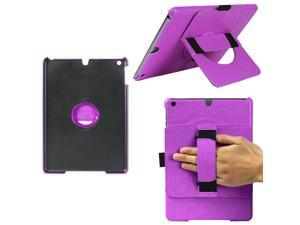JAVOedge 360 Rotating Back Cover with Handstrap and Kickstand for the Apple iPad Air (Purple)