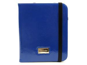 JAVOedge Blue Bold Folio Case with Hand Strap Closure for the Barnes & Noble Nook Simple Touch Reader, Nook Glowlight