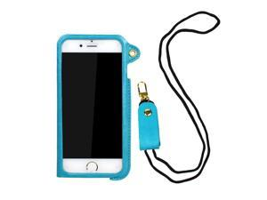 """JAVOedge Light Blue Lanyard Pouch for the Apple iPhone 6 Plus with Card Holder (5.5"""")"""