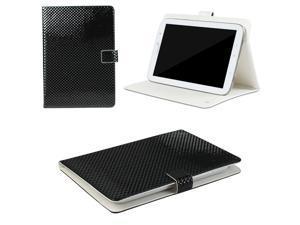 "JAVOedge Black Textured Square Grid Universal 7-8"" Book Case for the iPad Mini, Samsung Tab, Nexus 7, Nook HD"
