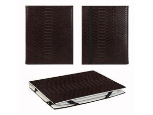 "JAVOedge Snake Skin 6"" Universal eReader Book Case for the Nook Touch, Glowlight, Kobo Glo, Touch, Kindle (Brown)"