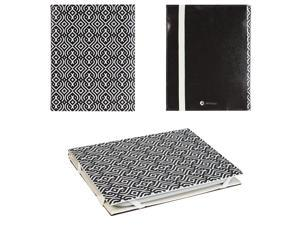 JAVOedge Black and White Abstract Pattern Ultra Thin Book Style Case for Barnes & Noble 2nd Generation Nook Glowlight