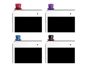 JAVOedge 4 Pack of Top Hat Charms for Headphone Jack for Tablets or Smartphones (Red, Purple, Blue, Black)