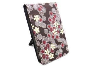 """JAVOedge Brown and Red Cherry Blossom Flip Case with Built in Stand for Amazon Kindle Fire 7"""" - First Generation"""