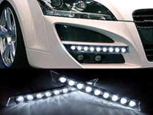 Audi Style 9 LED DRL Daytime Running Light Kit For INFINITI G37