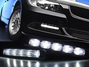 High Power 5 LED DRL Daytime Running Light Kit For SUBARU Justy