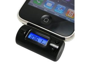 Car Charger / FM Transmitter for iPhone 3G 3GS 4G 4S iPod Nano and iPod Touch --- 30 Pin --- LCD Display --- Remote Included