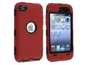 Triple Layer Hybrid Hard Skin Hybrid Case Cover compatible with Apple iPod Touch 4G 4th Gn 8GB 32GB 64GB