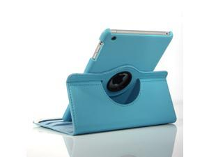 Apple iPad Mini Leather 360° Rotating Leather Folio Case - Light Blue