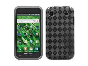 Samsung Galaxy S Vibrant T959 i9000 R880 Argyle TPU Silicone Skin Case - Gray Grey