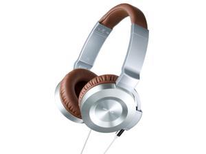 Onkyo ES-CTI300 On-Ear Headphones for iOS Devices (Silver/Brown)