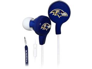 iHip NFE52-BAR NFL Noise Isolating Shoelace Earphones (Baltimore Ravens)