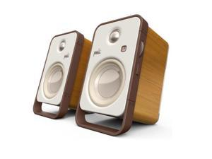 Polk Audio AM6510-A Hampden Desktop Speakers - Pair (Brown/White)