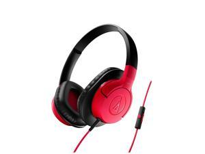 AudioTechnica ATH-AX1iS SonicFuel Over-Ear Headphones (Red)