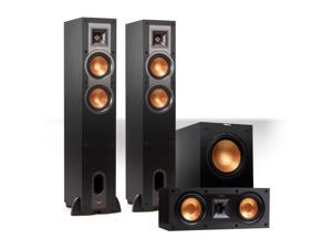 """Klipsch Reference 3.1 Channel R-24F Floorstanding Speaker Bundle with 12"""" Subwoofer (Black)"""