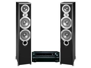 Onkyo TX-NR646 7.2 Channel Network AV Receiver with Infinity Primus P363 Home Theater Floorstanding Speakers (Black)