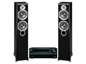 Onkyo TX-NR646 7.2 Channel Network AV Receiver with Infinity Primus P253 Home Theater Floorstanding Speakers (Black)