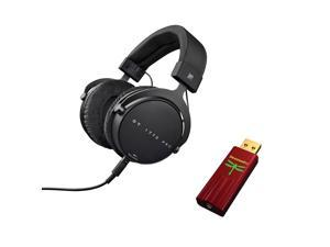 Beyerdynamic DT 1770 PRO Tesla Closed Studio Over-Ear Headphones with Audioquest Dragonfly Red USB DAC