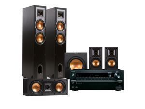 Onkyo TX-NR646 7.2-Channel Network AV Receiver with Klipsch R-26F 5.1 Reference Floorstanding Speaker Package (Black)