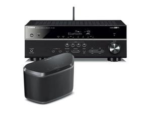 Yamaha RX-V481 5.1-Channel AV Receiver with WX-030 MusicCast Wireless Speaker (Black)