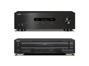 Yamaha R-S202 Bluetooth Stereo Receiver with Teac PD-D2610 MKII 5-Disc CD Changer