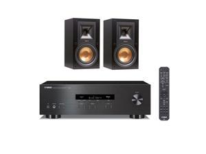 Klipsch R-15M Reference Monitor Speakers with Yamaha R-S202 Bluetooth Stereo Receiver