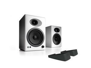 Audioengine A5+ Premium Powered Bookshelf Speakers With Stands - Pair (White)