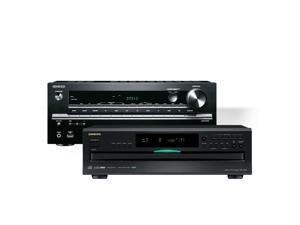 Onkyo TX-NR646 7.2-Channel Network AV Receiver with Onkyo DX-C390 6-Disc Carousel CD Player