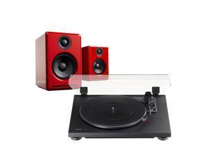 TEAC TN-100 Turntable and Audioengine A2+ Powered Speaker Package (Black/Red)