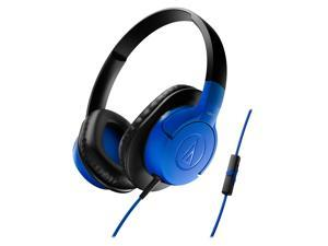 AudioTechnica ATH-AX1iS SonicFuel Over-Ear Headphones (Blue)