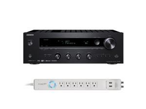 Onkyo TX-8140 Network Stereo Receiver with Built-In Wi-Fi & Bluetooth and Panamax 6-Outlet Floor Power Strip with USB Ch