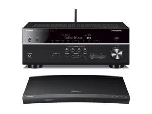 Samsung UBD-K8500 4K Ultra HD Blu-ray Player with Built-In Wi-Fi and Yamaha RX-V681 7.2-Channel 4K AV Receiver with Wi-F