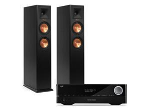 Harman Kardon AVR-1710S 7.2 Channel AV Receiver with Klipsch RP-250F Reference Premiere Floorstanding Speakers (Ebony)