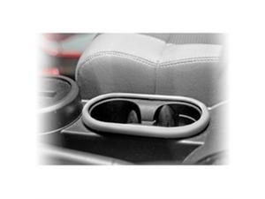 Rugged Ridge 11151.13 Front Cup Holder Trim, Brushed Silver, 07-10 Jeep Wrangler