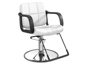 White Modern Fashion Hydraulic Barber Chair Styling Salon Beauty Equipment 5W