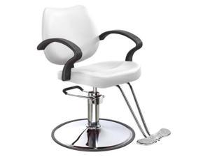White Modern Fashion Classic Hydraulic Barber Chair Styling Salon Beauty 3W